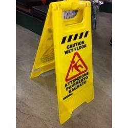 Cartello pavimento bagnato PVC