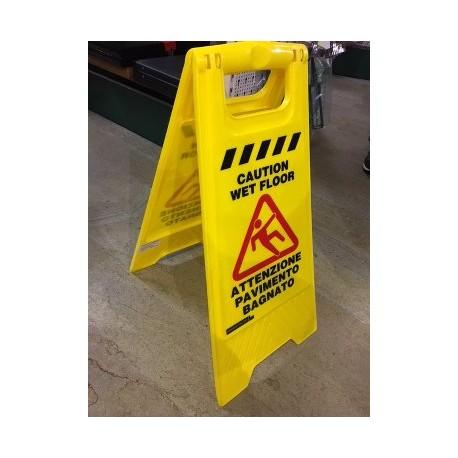 Cartello pavimento bagnato pvc ferramenta pesarin - Cartello pavimento bagnato ...