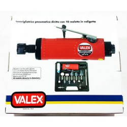 Smerigliatrice pneumatica diritta cin 10 molette in valigetta VALEX