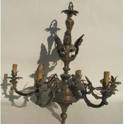 Lampadario fusione in bronzo