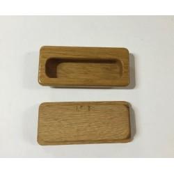 Maniglie ad incasso in legno  9x3,5 cm