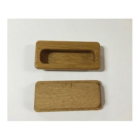 Maniglie ad incasso in legno 9x3 5 cm ferramenta pesarin - Maniglie per finestre in legno ...