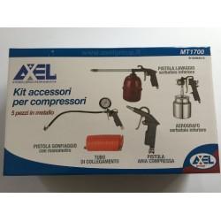 Kit accessori per compressori 5 pezzi in metallo
