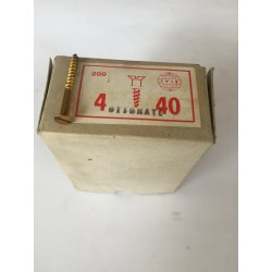 Viti 4x40 ottonate testa piana filetto parziale